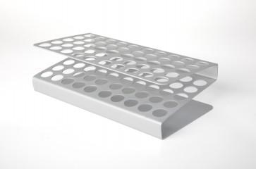 Gradilla aluminio 50 tubos (max Ø 16 mm.)
