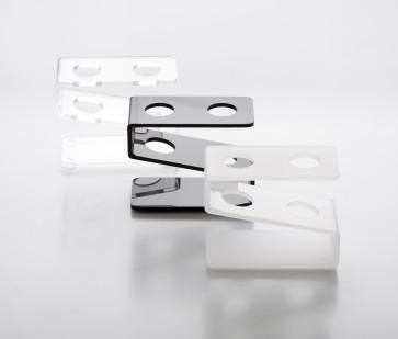 Gradilla plexiglas 2 agujeros blanca (max Ø 18 mm.)
