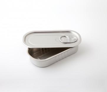 Lata de Conserva Aluminio Rectangular con Tapa (Caja 100 unds)