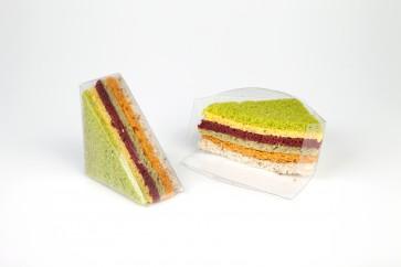 Cajita 1/4 sandwich transparente (Caja 100 unds)
