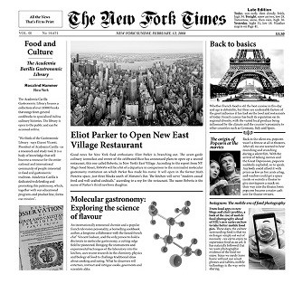 """Papel Periódico """"New Fork Times"""" (500 uds)"""