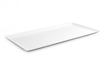 Bandeja rectangular HOLA blanca (Caja 6 unds)