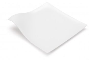 Plato llano HOLA blanco (caja 100 unds)