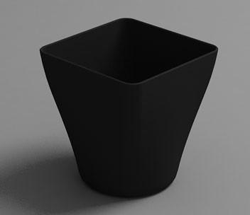 Vaso HOLA 9cl. Negro