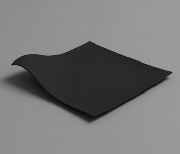 Plato mini HOLA negro (Caja 100 unds)