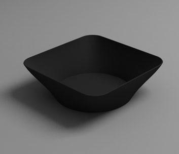 Plato Mini hondo HOLA negro (Caja 125 unds)