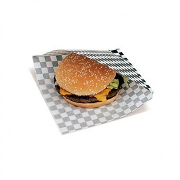 Bolsa papel hamburguesa abierta