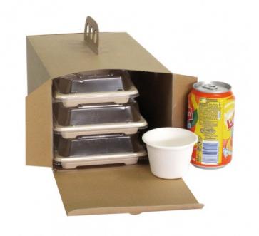 Caja para llevar Kraft con Puño
