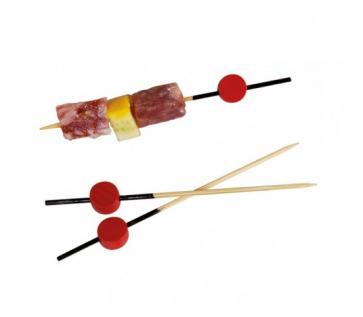 Atami Pincho de bambú negro con cuenta roja 12cm (Bolsa 200 unds)