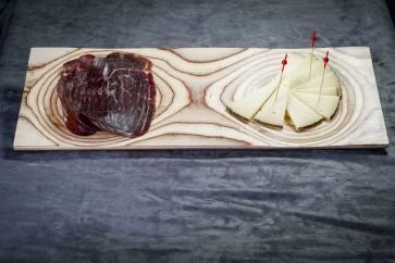 Bandeja de madera 2 huecos