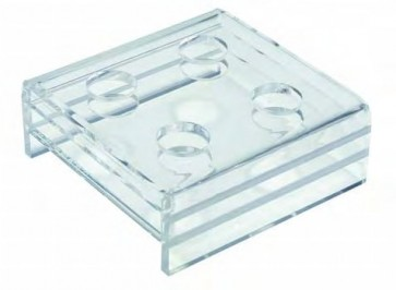 Soporte plexiglass 4 pipetas grandes