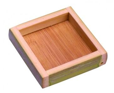 Plato Cuadrado Bambú (Caja 10 unds)