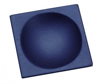 Plato cuadrado lacado negro mate (Bolsa 10 unds)