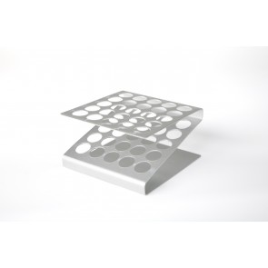 Gradilla aluminio 25 tubos  (max Ø 16 mm)