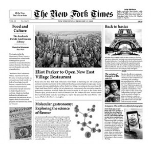 "Papel Periódico ""New Fork Times"" (500 uds)"
