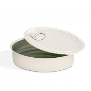 Latas de Conserva Aluminio Oval con Tapa (Caja 235 unds)