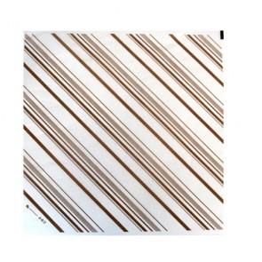 Hoja de papel con rayas marrón (500 unds)