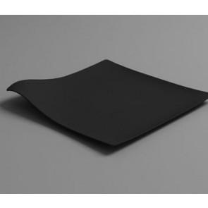 Plato llano HOLA negro (caja 100 unds)