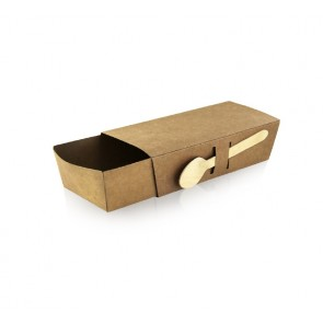 Barquilla para snacks + Tapa (caja 50 unds)