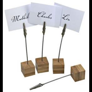 Soporte de bambú para tarjetas