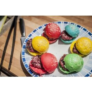 Muestra MiniHamburguesas de colores