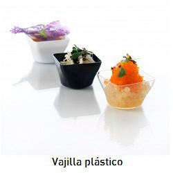 Vajilla y artículos de plástico para catering